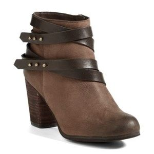 BP Train Wrap Leather Ankle Bootie 8M